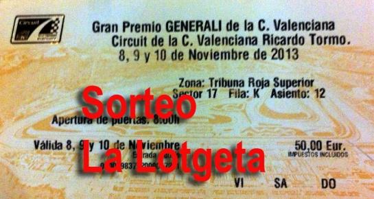 Gana una entrada para el Gran Premio GENERALI de la C. Valenciana